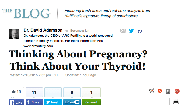 Thinking About Pregnancy? Think About Your Thyroid!