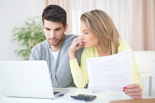 Couple reviewing their credit