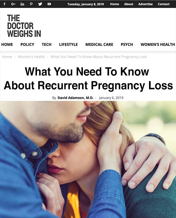 What You Need To Know About Recurrent Pregnancy Loss